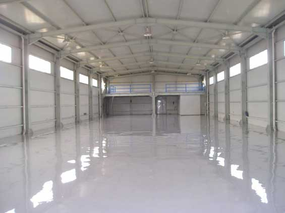 Self Leveling Floor in industrial warehouse