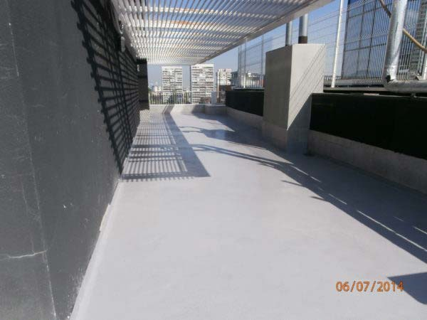 Balcony Terrace protected with Ktisopur UV