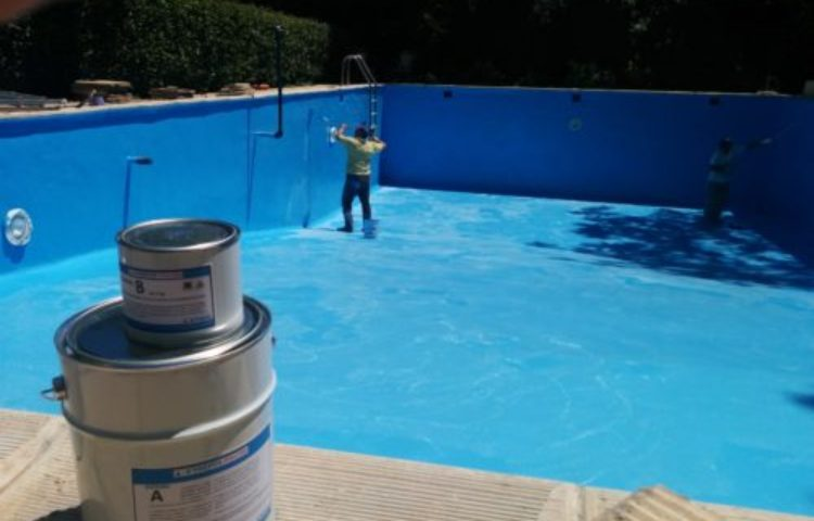 Waterproofing coatings liquid membranes sealers and pool paints for Epoxy coating for swimming pools