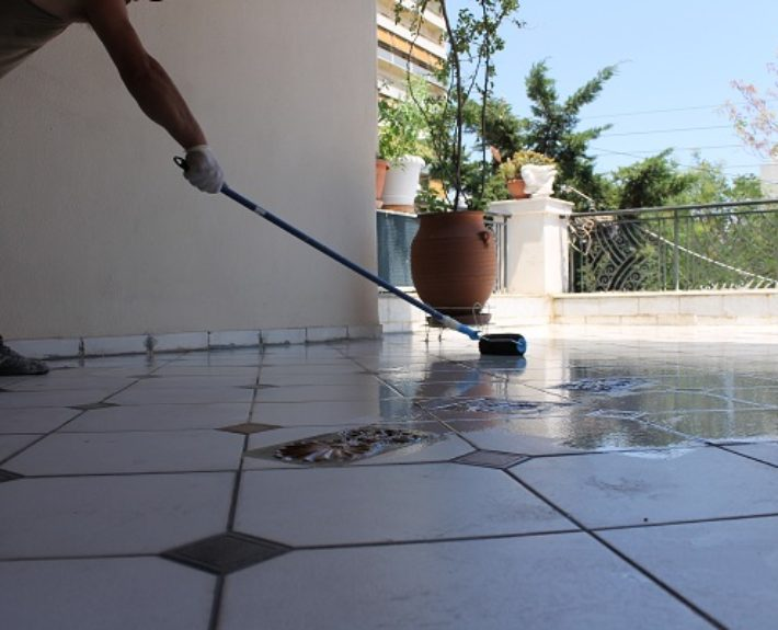 Sealing Balcony tiles with Anydron TR